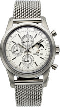 Timepieces:Wristwatch, Breitling, Ref: A1931012, Transocean 1461 Chronograph/Calendar Moonphase, Circa 2012. ...