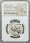 Ancients:Greek, Ancients: ATTICA. Athens. Ca. 165-42 BC. AR tetradrachm (17.00 gm).NGC Choice AU 5/5 - 4/5....
