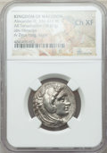 Ancients:Greek, Ancients: MACEDONIAN KINGDOM. Alexander III the Great (336-323 BC).AR tetradrachm (16.87 gm). NGC Choice XF....