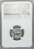 Ancients:Greek, Ancients: CALABRIA. Tarentum. Ca. 272-240 BC. AR stater or didrachm(6.39 gm). NGC Choice XF 4/5 - 4/5....