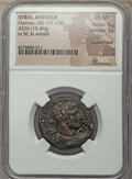 Ancients:Roman Provincial , Ancients: SYRIA. Seleucis and Pieria. Antiochia ad Orontem. Hadrian(AD 117-138). AE26 (15.49 gm). NGC Choice VF 4/5 - 3/5,countermark....