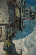 Paintings, Thorton Utz (American, 1914-1999). Soldier Almost Home. Oil on board. 24 x 16.5 in.. Signed lower right. ...