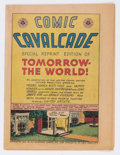 Golden Age (1938-1955):Non-Fiction, Comic Cavalcade Giveaway #nn Tomorrow The World (DC, 1945)Condition: FN....