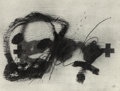 Fine Art - Work on Paper:Drawing, Antoni Tàpies (1923-2012). Variations sur un thème musical6, 1987. Lithograph with embossing on Arches paper. 21 x27-1...