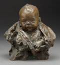 Fine Art - Sculpture, American, Bessie Potter Vonnoh (American, 1872-1955). Bust of a Baby,1901. Bronze with brown patina. 10 inches (25.4 cm) high. In...