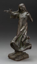 Fine Art - Painting, American, Bessie Potter Vonnoh (American, 1872-1955). Butterflies.Bronze with brown patina. 13 inches (33.0 cm) high. Inscribed w...