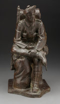 Sculpture, Robert Tait McKenzie (American/Canadian, 1867-1938). Blighty, 1916. Bronze with brown patina. 15-1/2 inches (39.4 cm) hi...