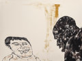 Prints & Multiples, Leon Albert Golub (1922-2004). Encounter, 1986. Lithograph in colors on Arches paper. 22 x 30-1/8 inches (55.9 x 76.5 cm...