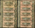 Confederate Notes:1864 Issues, T68 $10 1864 Twenty-one Examples.. ... (Total: 21 notes)