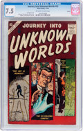 Silver Age (1956-1969):Horror, Journey Into Unknown Worlds #52 Circle 8 Pedigree (Atlas, 1956) CGCVF- 7.5 Off-white to white pages....
