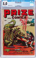 Golden Age (1938-1955):Miscellaneous, Prize Comics #52 (Prize, 1945) CGC VG/FN 5.0 Off-white pages....