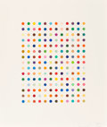 Fine Art - Work on Paper:Print, Damien Hirst (b. 1965). Ethidium Bromide Aqueous Solution,2005. Aquatint in colors, on Hahnemühle etching paper, with f...