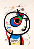 Fine Art - Work on Paper:Print, Joan Miró (1893-1983). Galathée, 1976. Etching and aquatintin colors, with embossing, on Arches paper. 45-1/2 x 29-1/8 ...