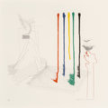 Fine Art - Work on Paper:Print, David Hockney (b. 1937). I Say They Are, pl. 16, from TheBlue Guitar, 1976. Etching and aquatint in colors on wove ...