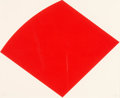 Prints & Multiples, Ellsworth Kelly (1923-2015). Red Curve, 1997. Lithograph in red on Rives BFK paper. 16 x 19-1/2 inches (40.6 x 49.5 cm) ...