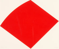 Ellsworth Kelly (1923-2015) Red Curve, 1997 Lithograph in red on Rives BFK paper 16 x 19-1/2 inch