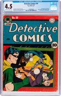 Golden Age (1938-1955):Superhero, Detective Comics #59 (DC, 1942) CGC VG+ 4.5 Off-white to white pages....