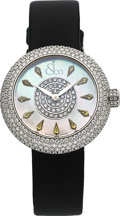 Timepieces:Wristwatch, Jacob & Co, Brilliant Half Pave, Diamond And Yellow Sapphire Ladies Wristwatch, Circa 2016. ...