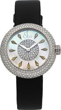 Jacob & Co, Brilliant Half Pave, Diamond And Yellow Sapphire Ladies Wristwatch, Circa 2016
