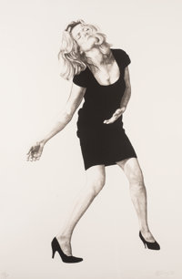 Robert Longo (b. 1953) Barbara, from Men in the Cities, 1998 Lithograph in black and gray