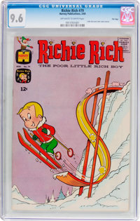 Richie Rich #79 File Copy (Harvey, 1969) CGC NM+ 9.6 Off-white to white pages