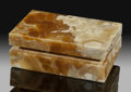 Lapidary Art:Boxes, Aragonite Box. Stone Source: Italy. ...