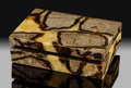 Lapidary Art:Boxes, Septarian Box. Stone Source: Utah, USA. ...
