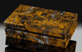 Lapidary Art:Boxes, Mustard Jasper Box. Stone Source: Indonesia. ...