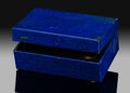 Lapidary Art:Boxes, Lapis Box. Stone Source: Afghanistan. ...
