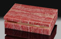 Lapidary Art:Boxes, Rhodochrosite Box. Stone Source: Argentina. ...