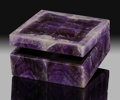 Lapidary Art:Boxes, Amethyst Box. Stone Source: Rio Grande do Sul, Brazil.Handcrafted in Florence, Italy. ...