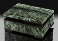 Lapidary Art:Boxes, Seraphanite Box. Stone Source: Kola Peninsula. Murmanskaya Oblast', Northern Region. Russia. ...