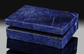 Lapidary Art:Boxes, Sodalite Box. Stone Source: Pilanesberg Alkaline Complex. Western Bushveld Complex, Bojanala Platinum District. No...