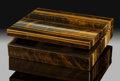 Lapidary Art:Boxes, Tiger's-Eye Box. Stone Source: Northern Cape Province. South Africa. ...