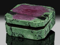 Lapidary Art:Boxes, Ruby & Zoisite Box. Stone Source: Tanzania. ...