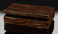 Lapidary Art:Boxes, Tiger Iron Box. Stone Source: Ord Ranges. Pilbara,Western Australia. Handcrafted in Italy. ...