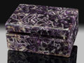 Lapidary Art:Boxes, Chevron Amethyst Box. Stone Source: Rio Grande do Sul,Brazil. ...