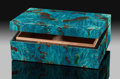 Lapidary Art:Boxes, Shattuckite Box. Stone Source: Democratic Republic of Congo(Zaïre). ...