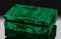 Lapidary Art:Boxes, Malachite Box. Stone Source: Democratic Republic of Congo (Zaïre). Handcrafted in Italy. ...