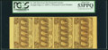 Fractional Currency:First Issue, Fr. 1281 25¢ First Issue Vertical Strip of Four PCGS About New53PPQ.. ...