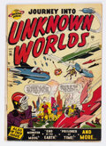 Golden Age (1938-1955):Science Fiction, Journey Into Unknown Worlds #36 (#1) (Atlas, 1950) Condition:VG+....