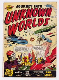 Journey Into Unknown Worlds #36 (#1) (Atlas, 1950) Condition: VG+