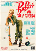 "Babette Goes to War (Columbia, 1959). Italian 4 - Fogli (55"" X 77.5"") Arnoldo Putzu Artwork. Foreign"
