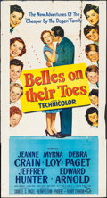 """Movie Posters:Romance, Belles on Their Toes (20th Century Fox, 1952). Trimmed Three Sheet (40.5"""" X 75.25""""). Romance.. ..."""