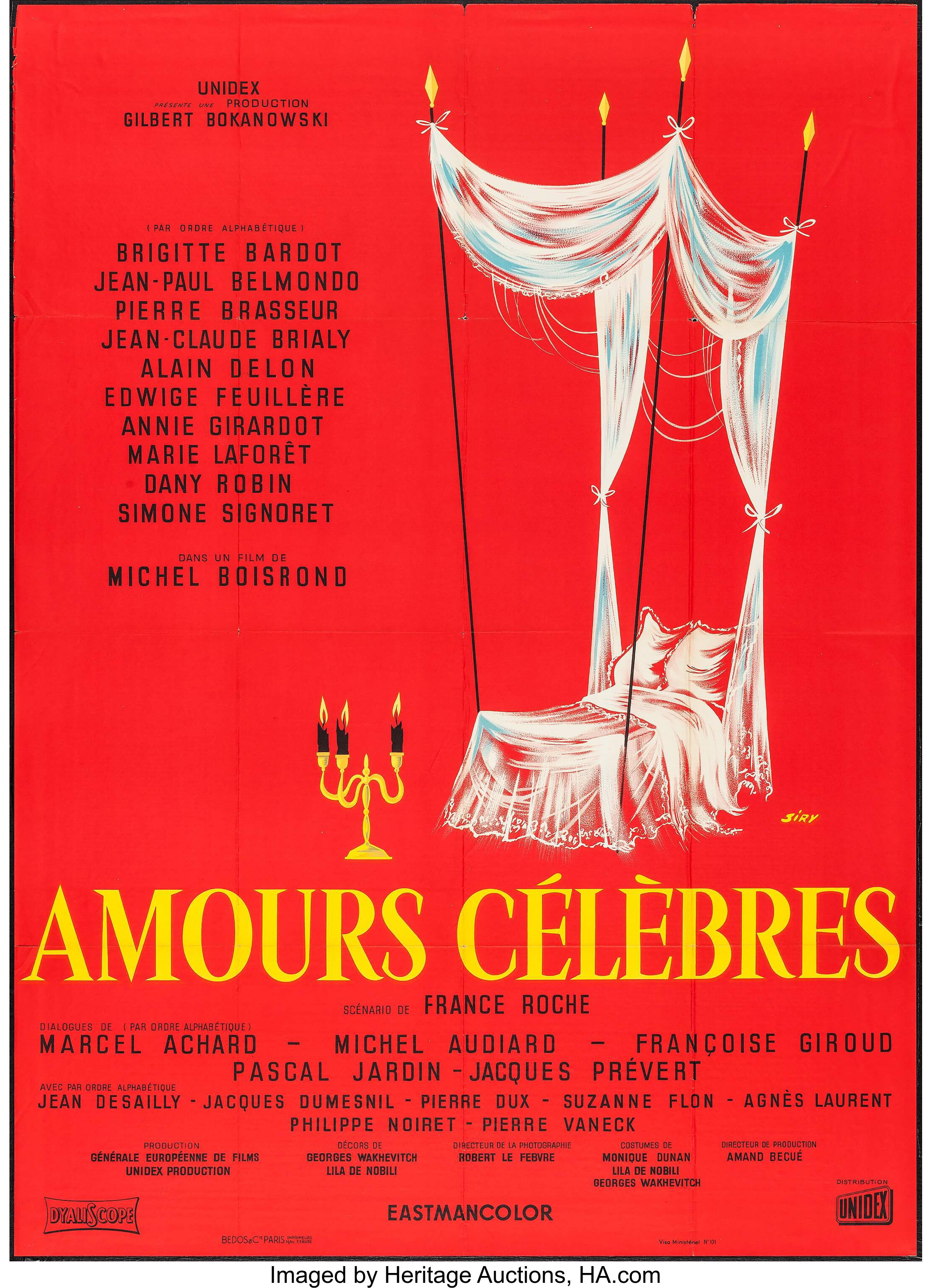 """Famous Love Affairs (Unidex, 1961). French Grande (45"""" X 61.25 ..."""