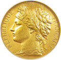 France, France: Republic gold Universal Exposition Award Medal 1878 AU Details (Edge Damage, Cleaned) NGC,...