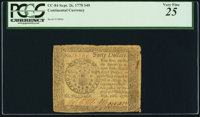 Continental Currency September 26, 1778 $40 PCGS Very Fine 25