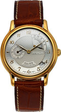 Timepieces:Wristwatch, Zenith Elite HW Chronometer 18k Gold Automatic. ...