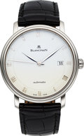 Timepieces:Wristwatch, Blancpain Ref. 6223 Steel Villeret Automatic Wristwatch. ...