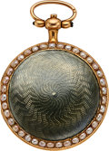 Timepieces:Pendant , Swiss Rare, As New Miniature 27 mm Gold & Enamel Verge Fusee, circa 1820's. ... (Total: 0 Items)